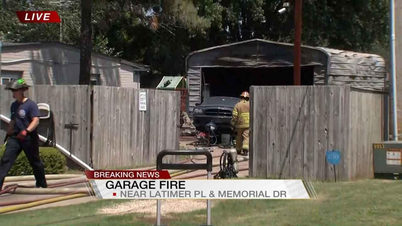 Garage Fire Closes Three Blocks Near Memorial, Latimer