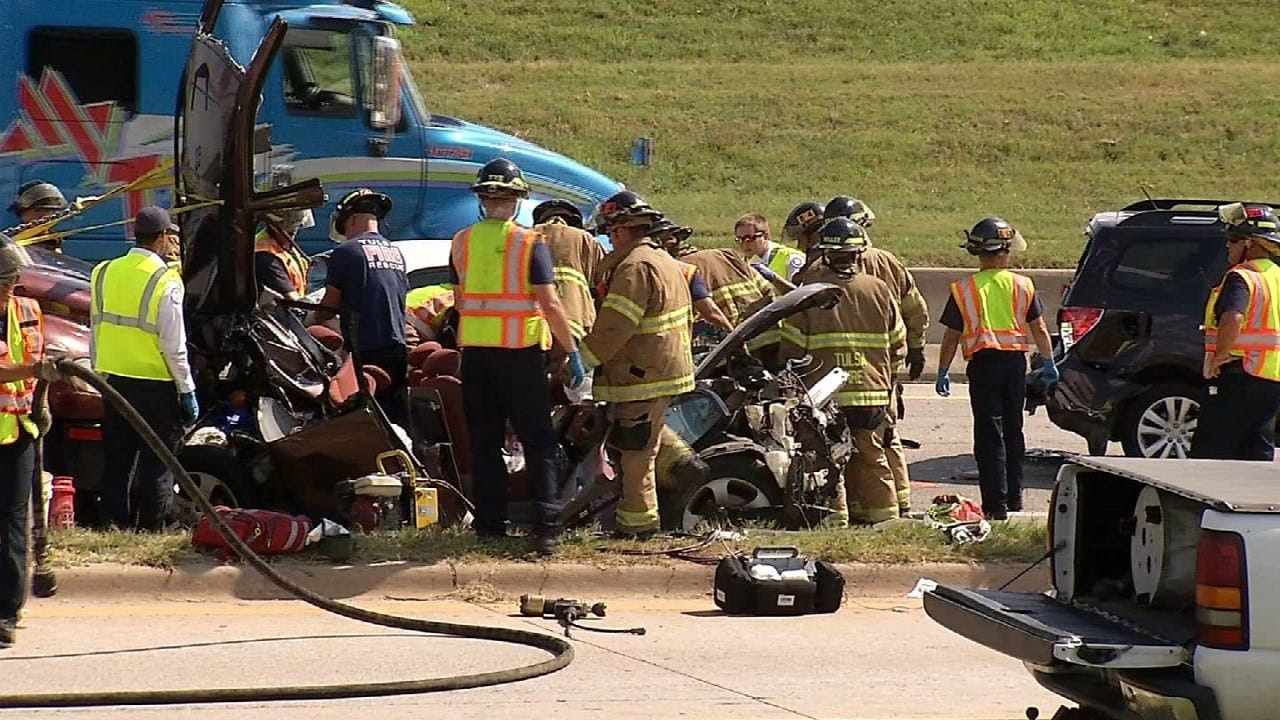 Sand Springs Family Asks For Help After Six-Car Crash