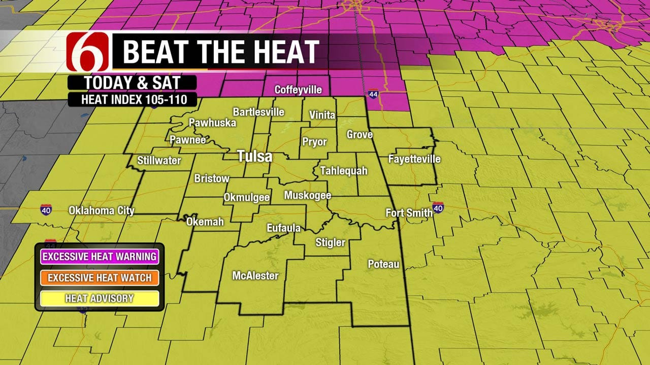 Sunny And Hot With A Heat Advisory For Eastern Oklahoma