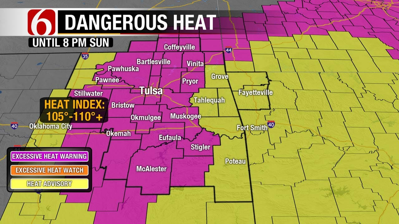 Oklahoma In For More Excessive Heat, Scattered Showers