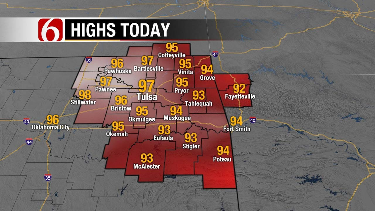 Another Hot Week For Eastern Oklahoma