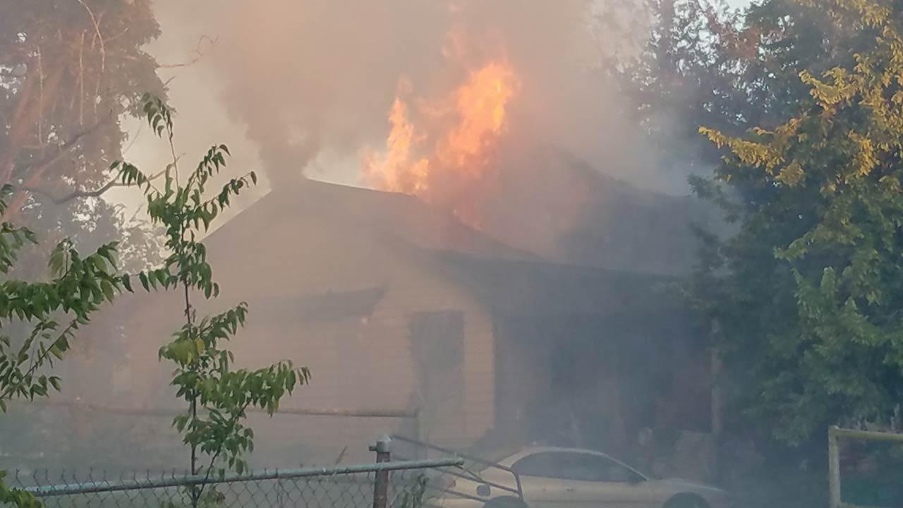 Fire Damages Sapulpa House