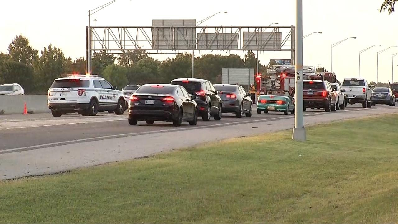 Messy Tulsa Highway Grease Spill Cleaned Up