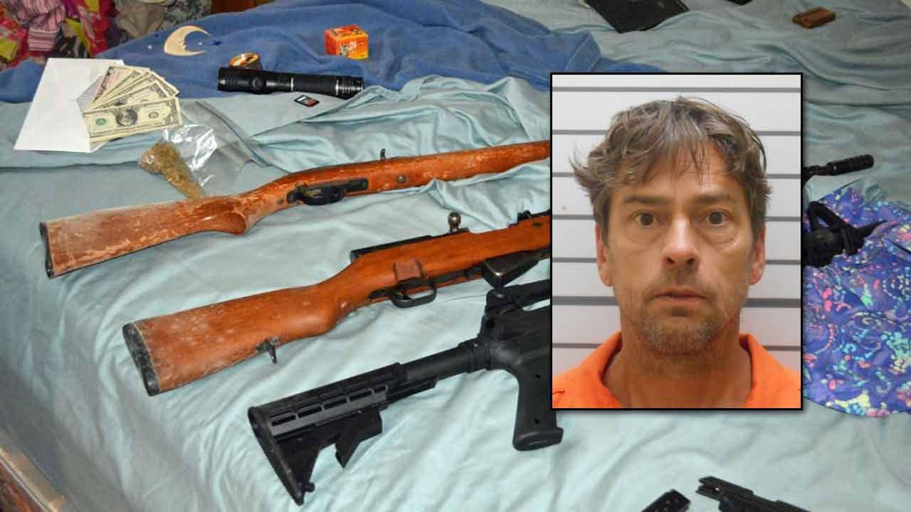 Muskogee Man Arrested For Guns, Drugs, Child Porn Possession