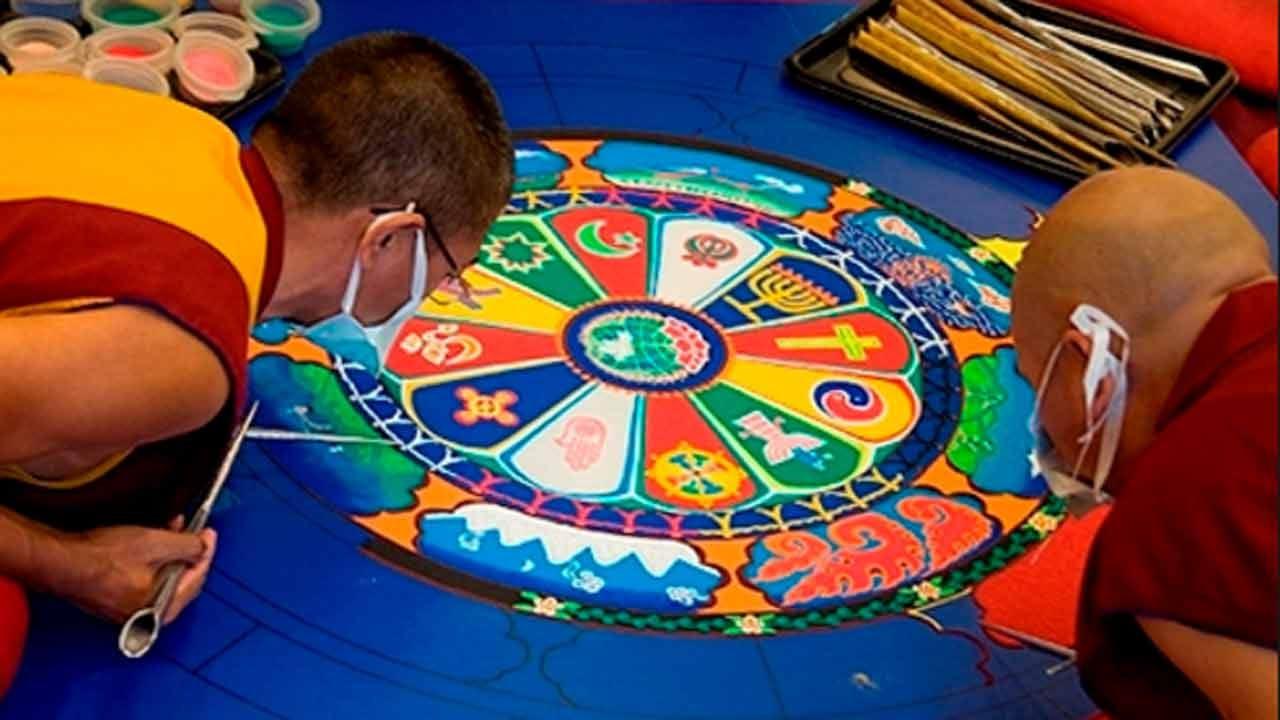 Tibetan Monks In Tulsa For Sacred Arts Tour