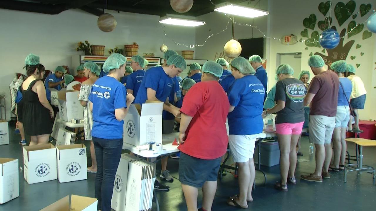 Volunteers Pack 15K Meals For Tulsa Neighborhood Residents