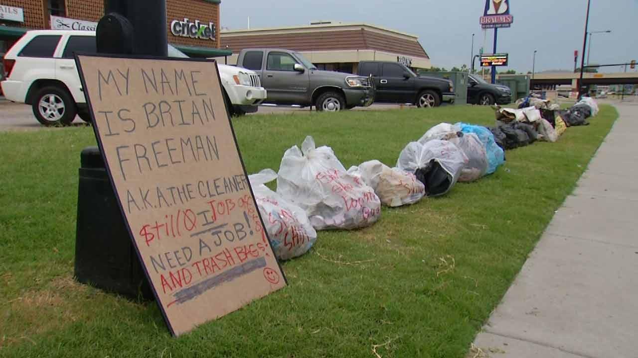 Free Trash Pick Up Tulsa Man's Way Of Redeeming Past