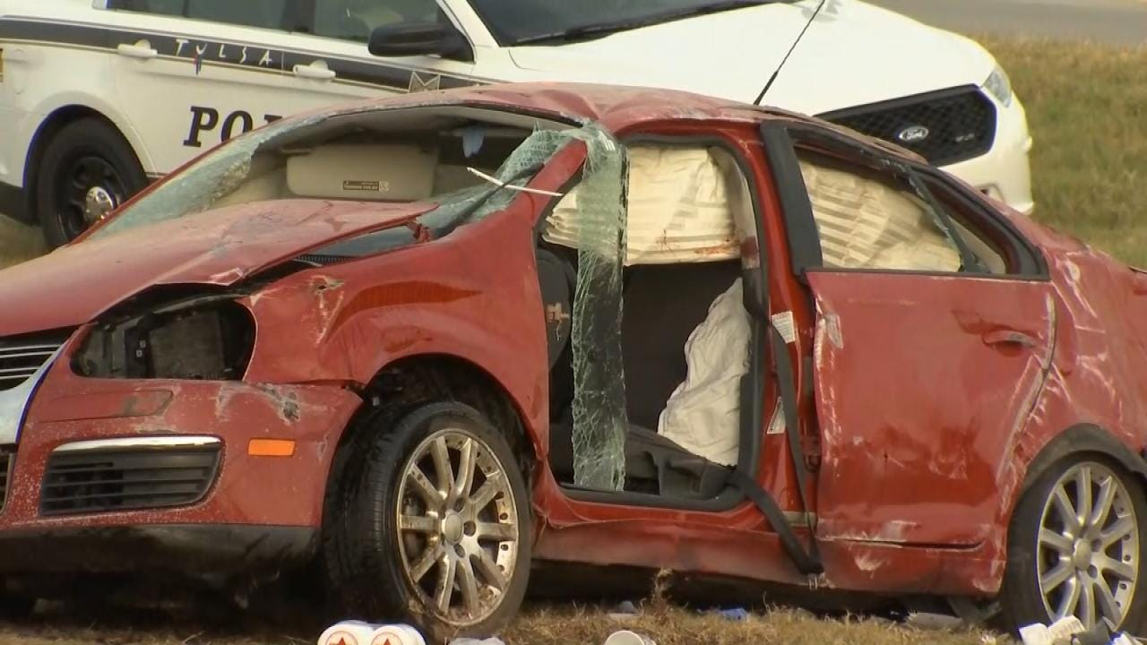 OHP: Intoxicated Driver Dies In Tulsa Highway Rollover Crash