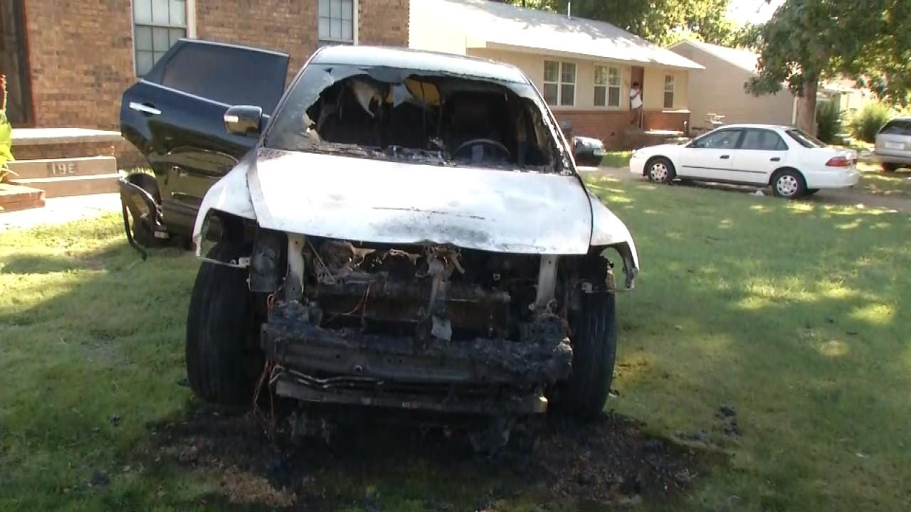 Man Arrested After Setting Car On Fire, Shooting Into Tulsa Home