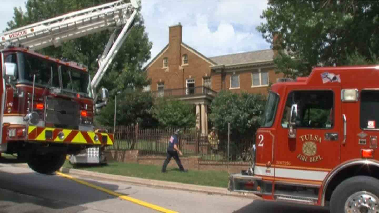 Crews Put Out Fire In Large Home Near Tulsa Country Club