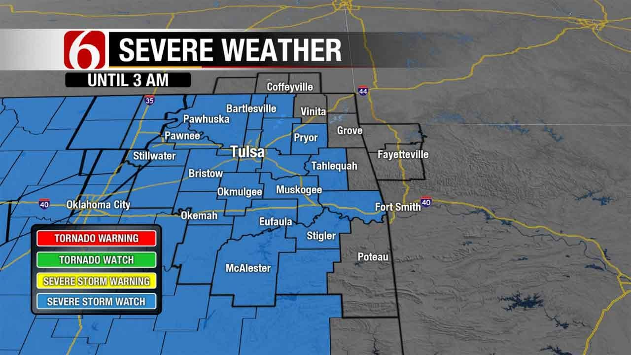 Severe Weather Moving Across Green Country