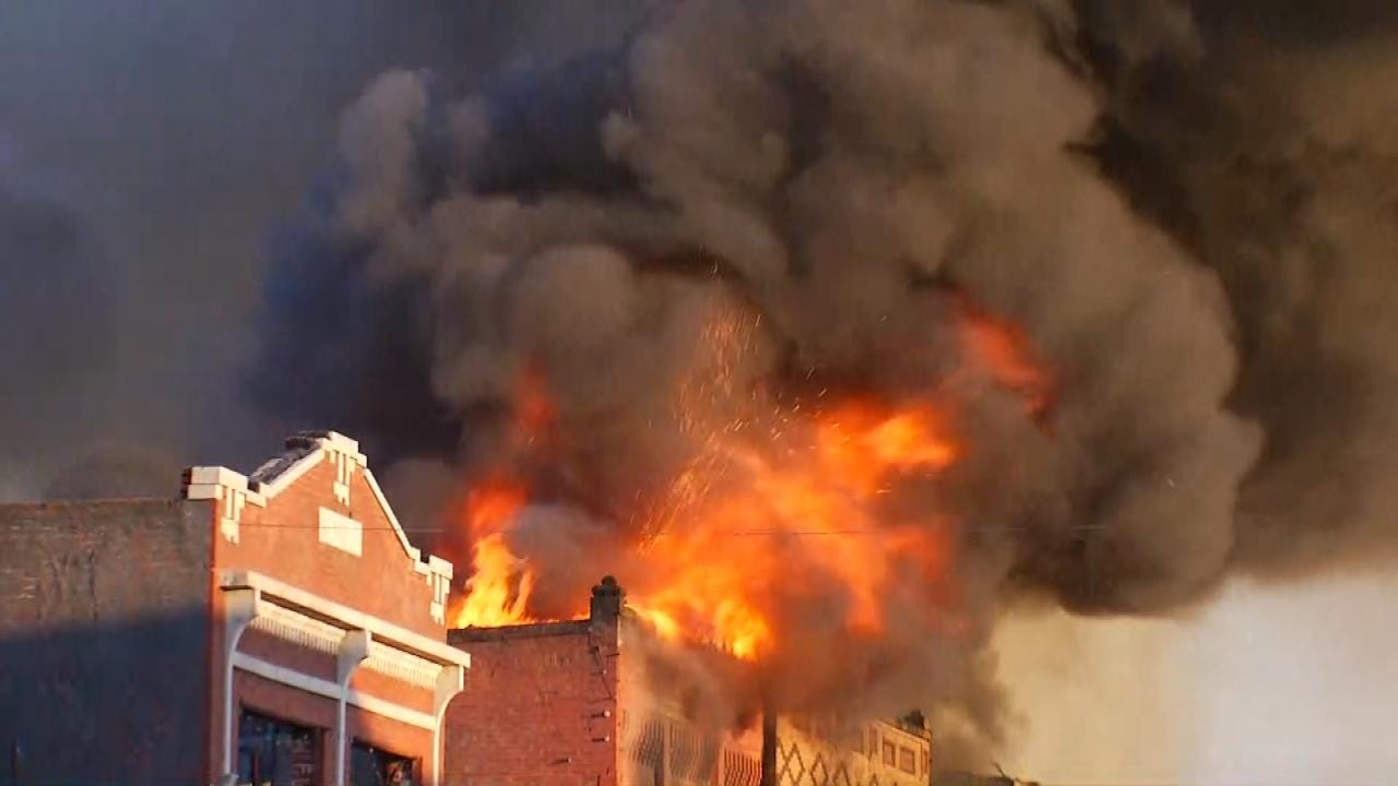 Person Of Interest Questioned And Released In Huge Wagoner Fire