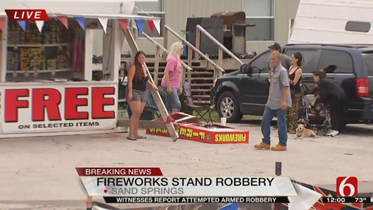 Armed Robbery Suspect Dies In Shootout At West Tulsa Fireworks Stand