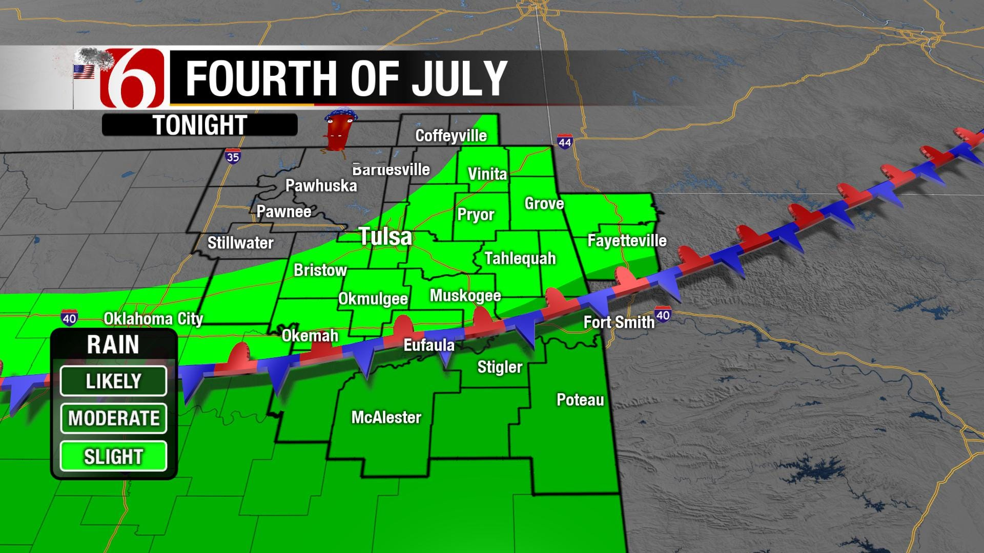 Rainy, Warm Independence Day In NE Oklahoma