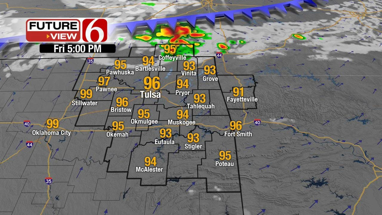 Another Toasty Day Across Eastern Oklahoma