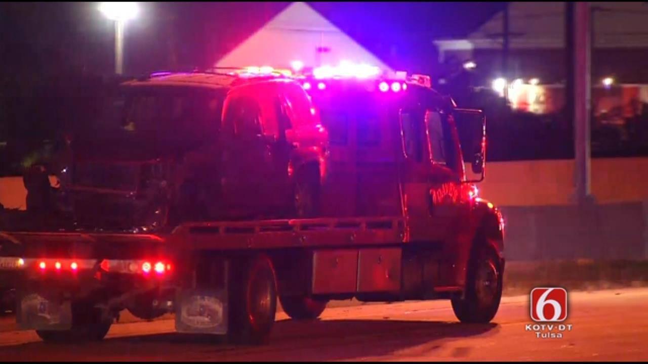 Multi-Car Crash Closes I-244 At Memorial