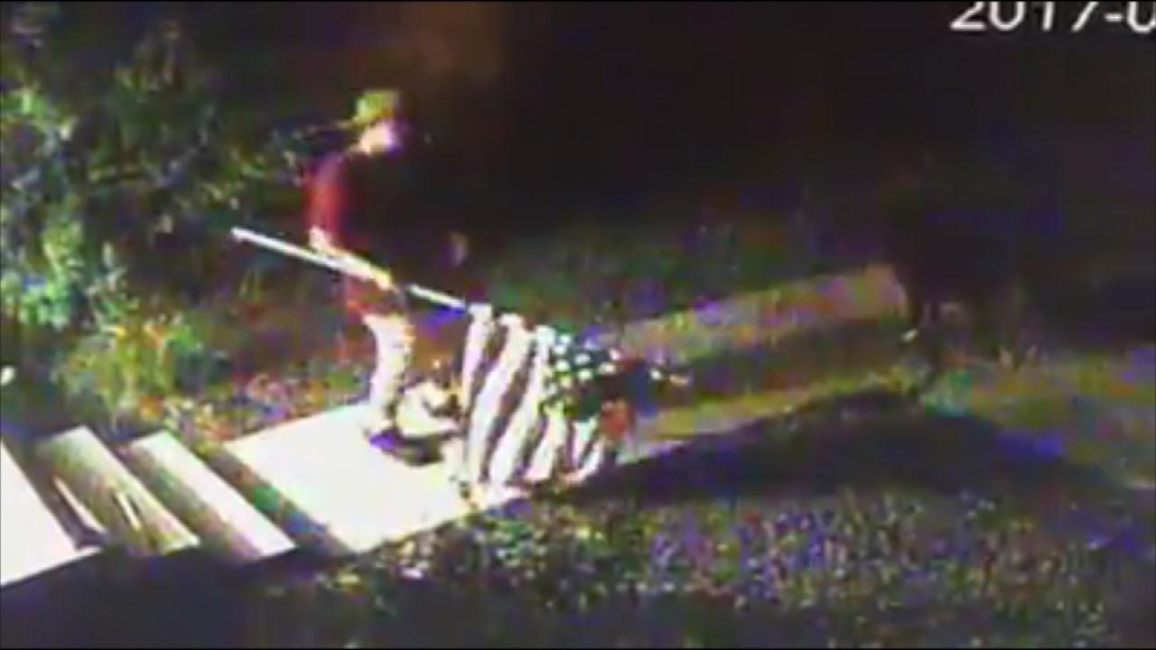 Surveillance Video Captures Sand Springs Flag Theft