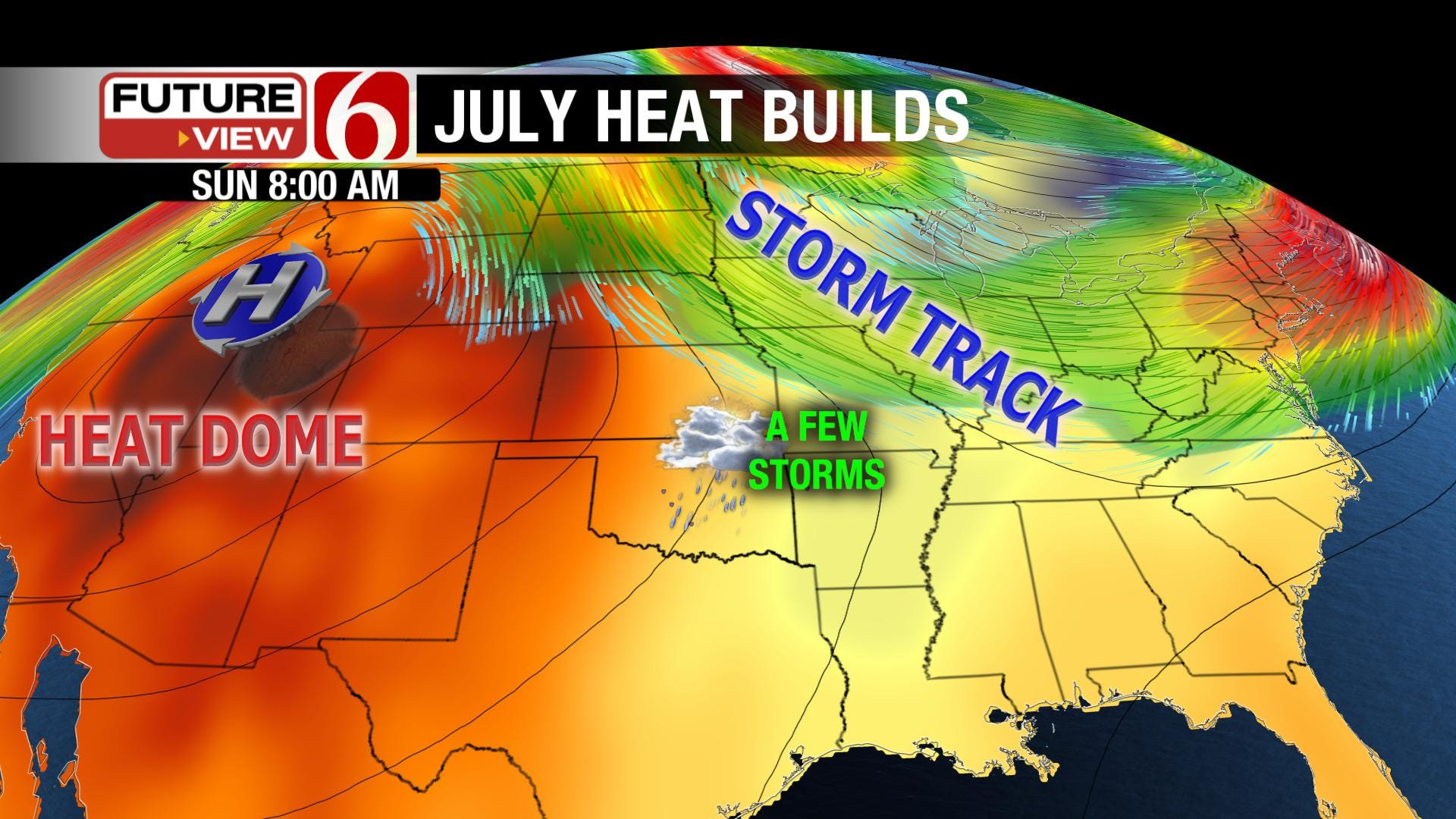 Summer Heat Dome Builds Over Oklahoma