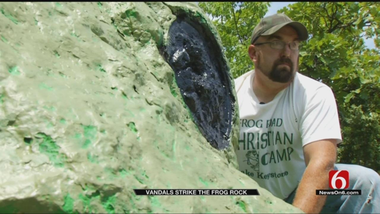 Creek County 'Frog Rock' Receives Some TLC From Local Group