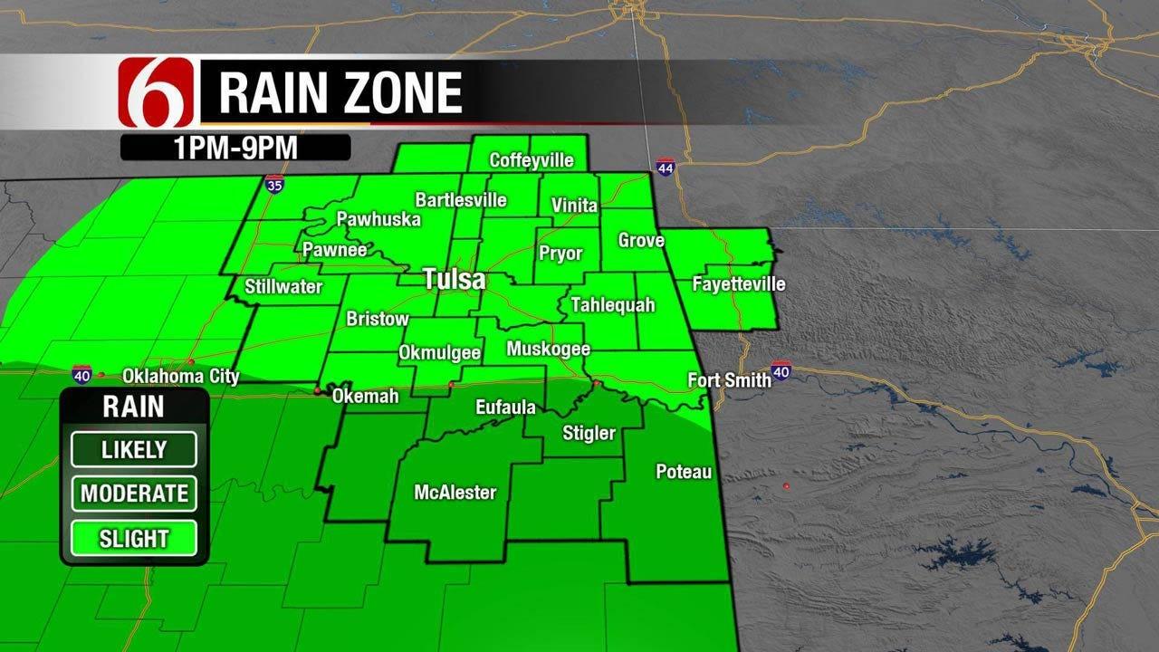 Rain, Storms Possible Across Northeast Oklahoma