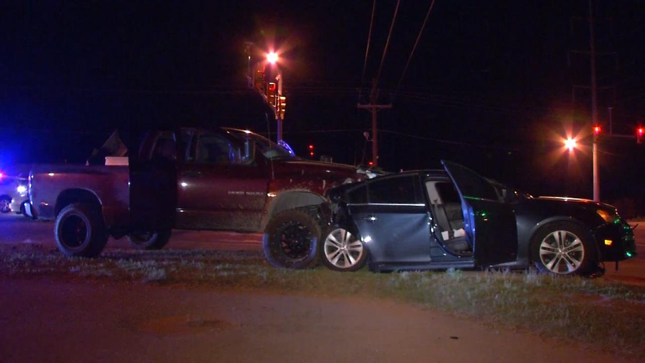 Three Injured In Multi-Vehicle Tulsa Crash