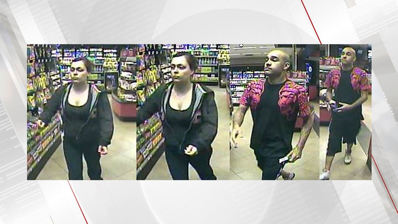 Jenks Police Search For Stolen Credit Card Suspects