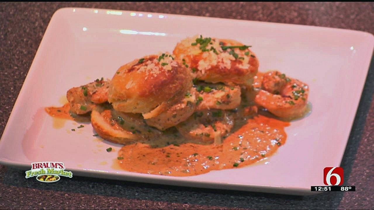 Louisiana BBQ Shrimp n' Biscuits