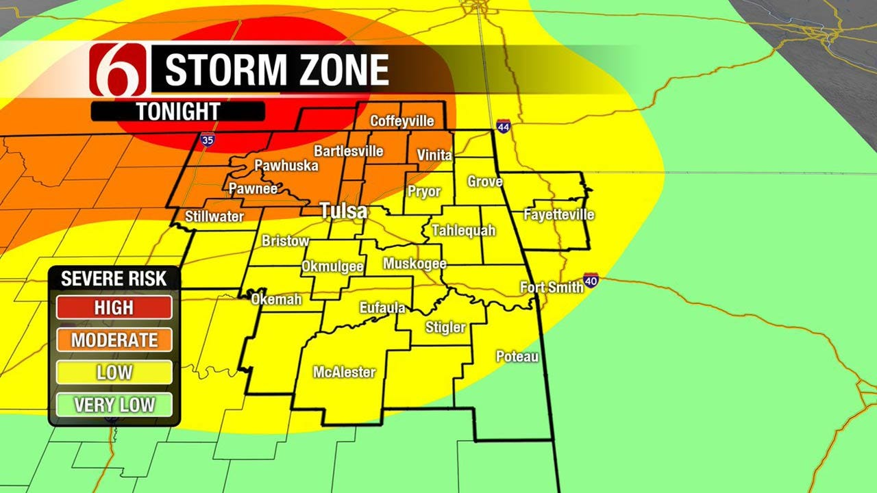 Severe Storms, Hail Possible Across Northern Oklahoma