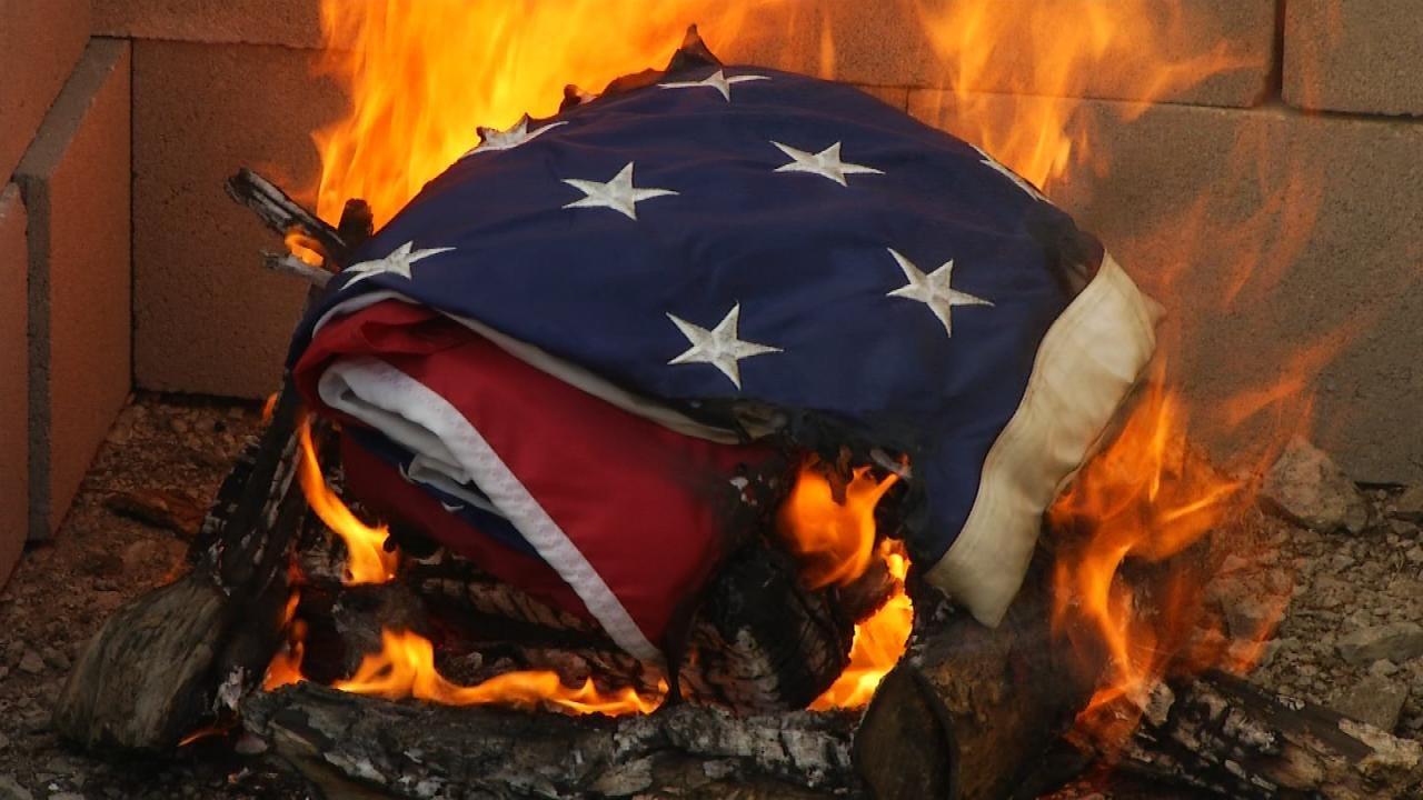 Tulsa American Legion Post Hold Flag Retirement Ceremony