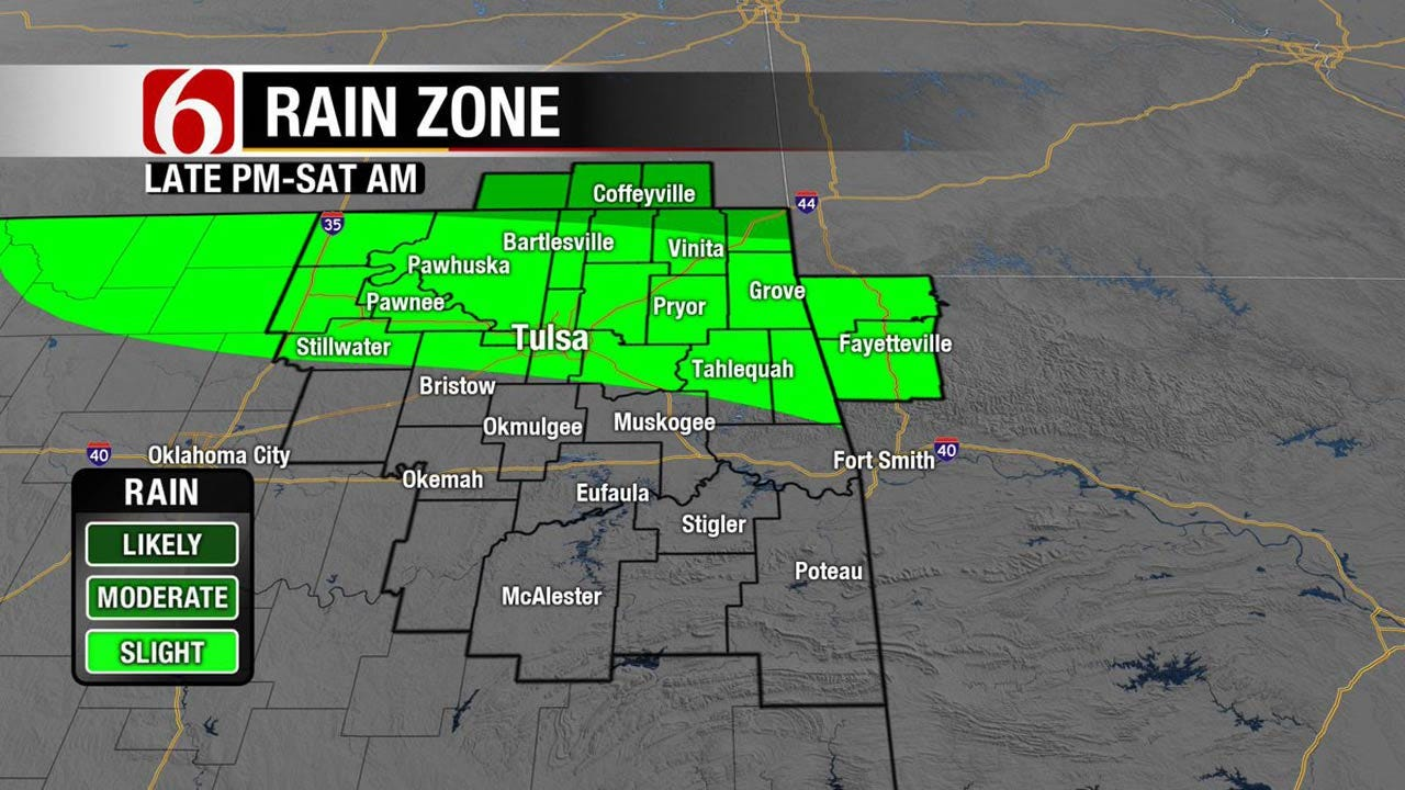 Rain Ends Across Oklahoma, Cooler Temps By Father's Day