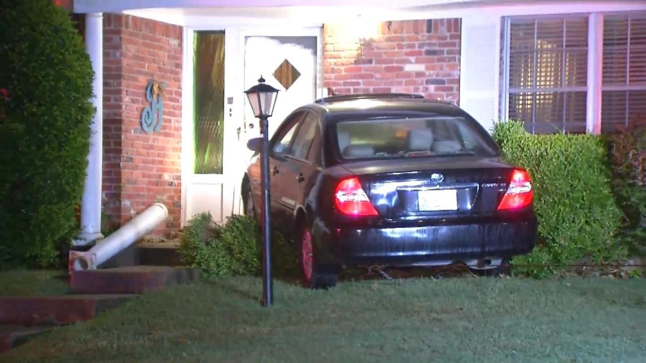 Seizure Blamed For Driver Crashing Into Tulsa Home