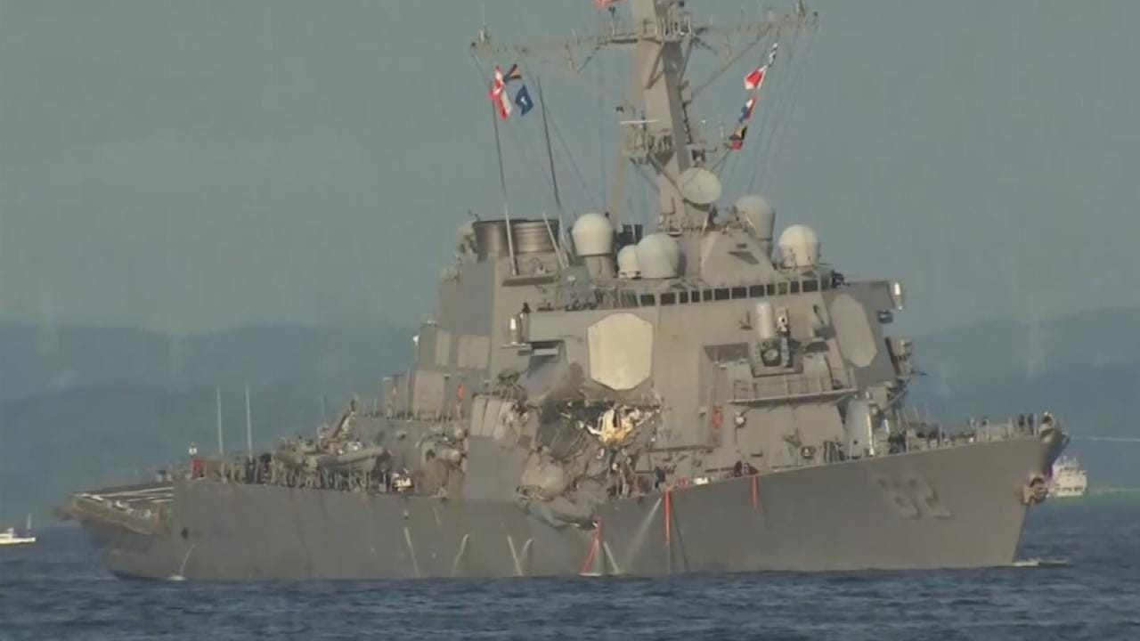 Seven Sailors Missing From US Warship After Collision Off Japanese Coast