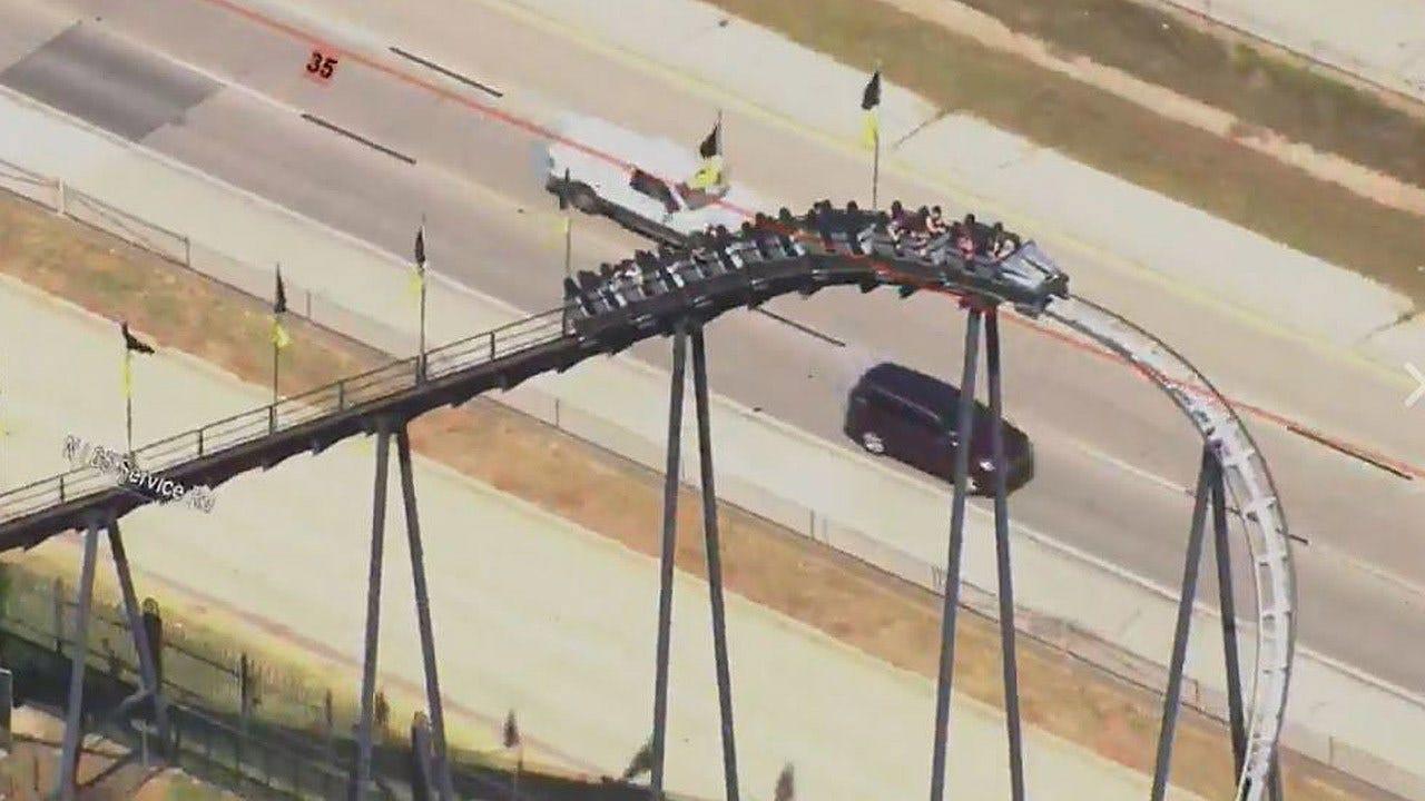 Oklahoma City's Frontier City Roller Coaster Stuck Again