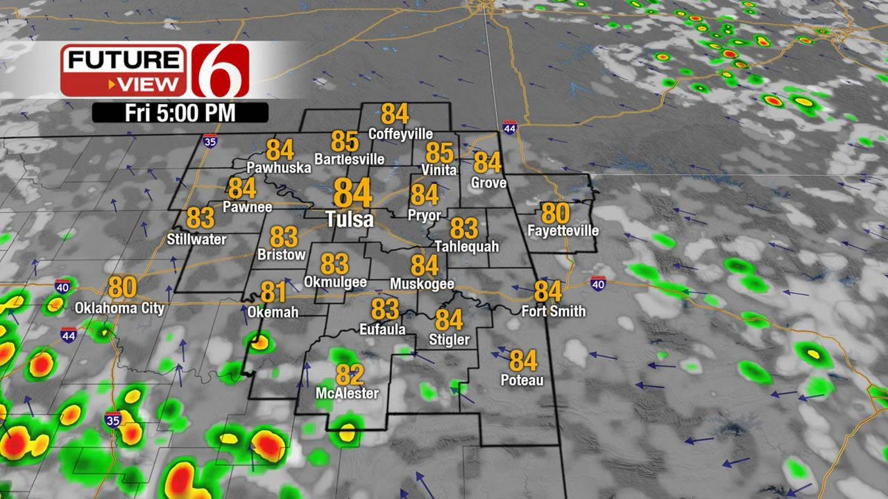 Showers, Storms Possible Across Eastern Oklahoma