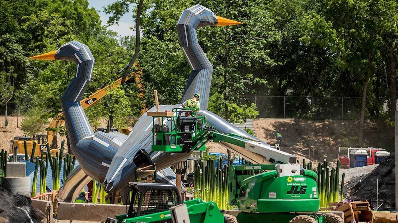 'Flying Fish' Fountains Tested For 'A Gathering Place' Water Feature