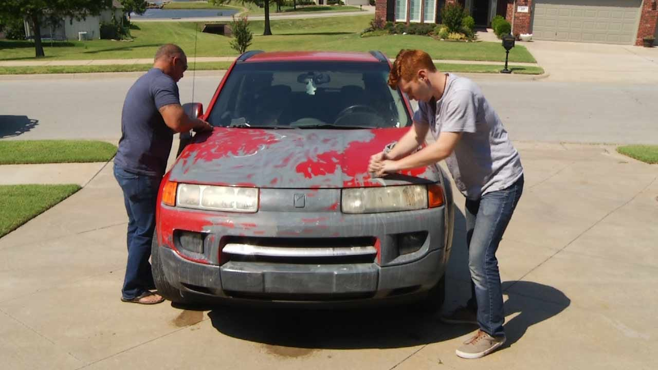 Bad Paint Job Couldn't Hide Stolen SUV From Tulsa Police