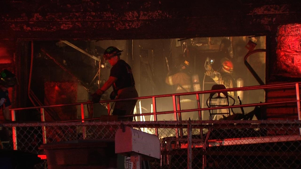 Woman Suffers Burns After Tulsa Home's Garage Catches Fire