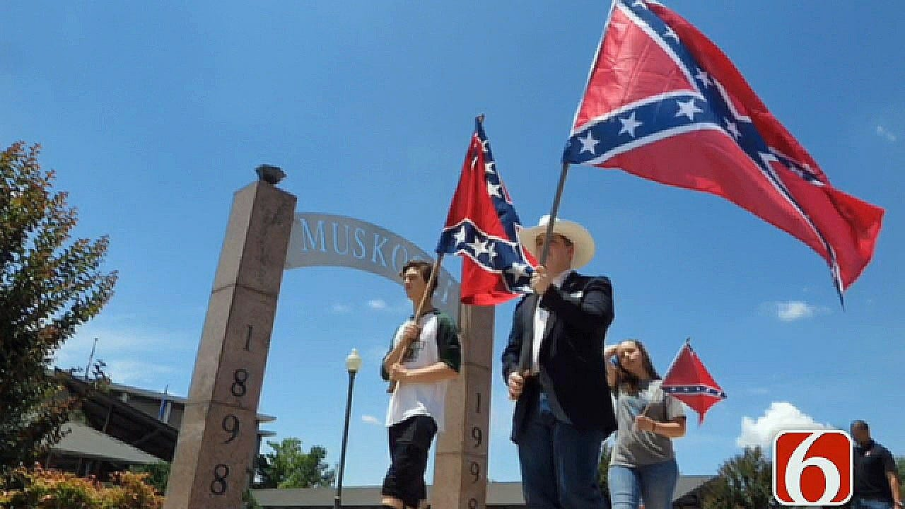 Muskogee Group Wants To Educate Others At Confederate Flag Rally