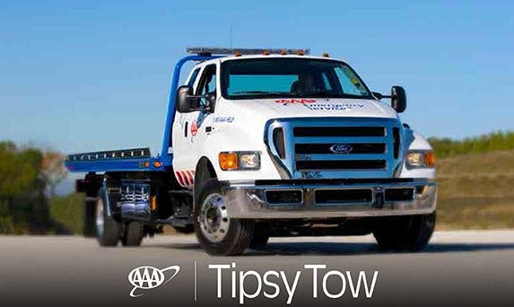 AAA Offering Tipsy Tow During Holiday