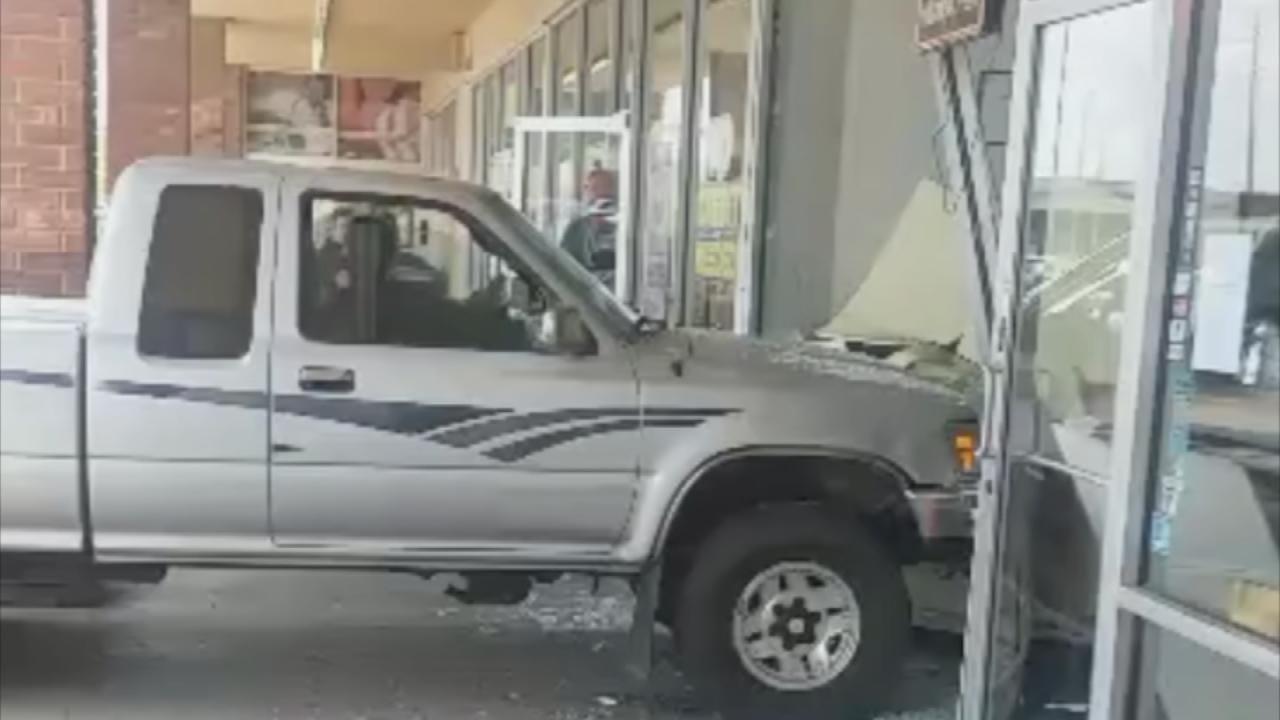 Dog Blamed For Pickup Crashing Into Tulsa Business