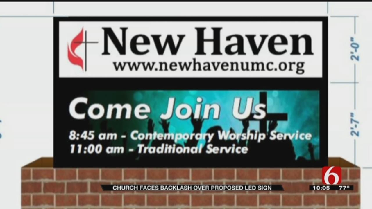 LED Sign OK'd For Tulsa New Haven Church