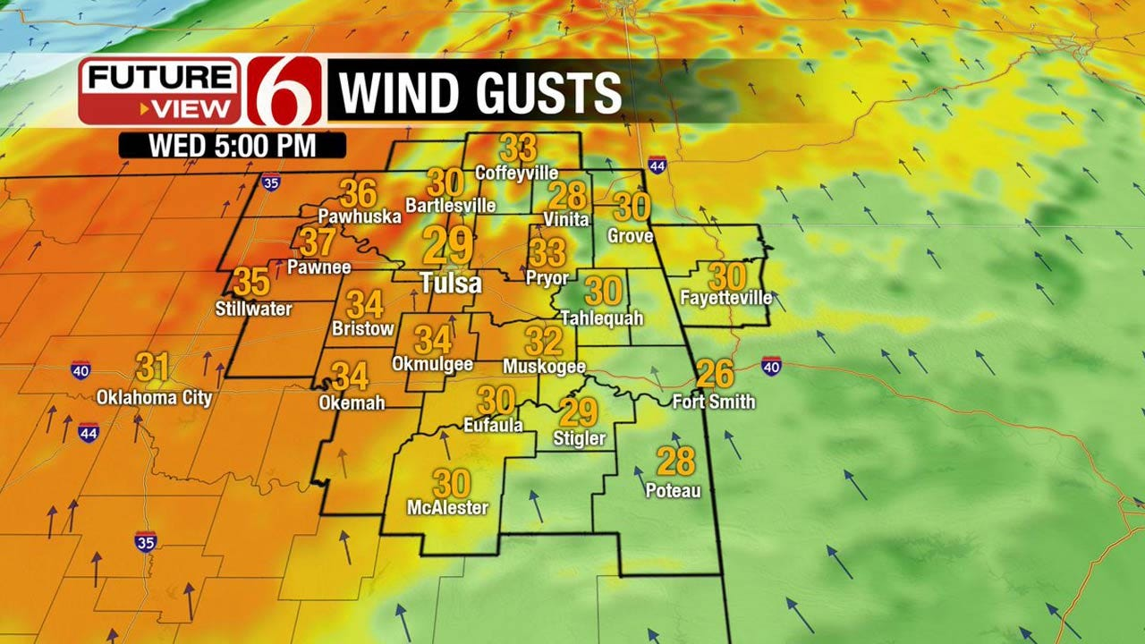 Windy, Warm And Muggy Across NE Oklahoma