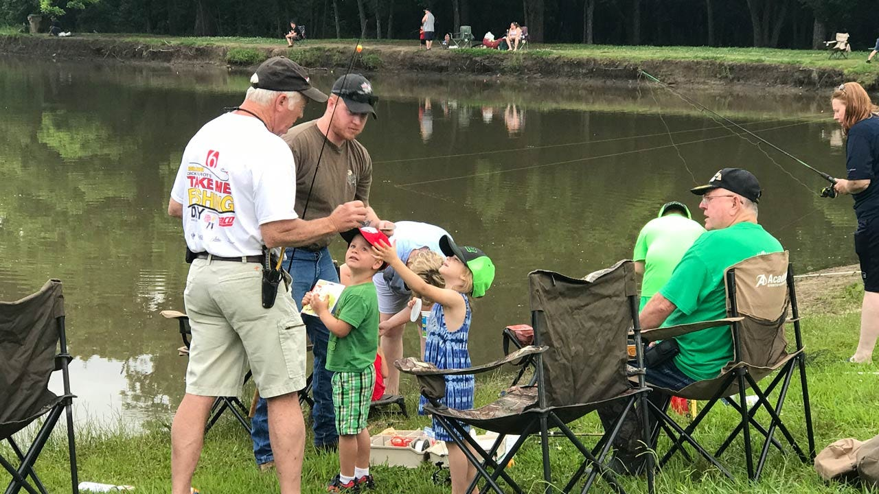 Green Country Families Hit Area Ponds For 40th Annual 'Take Me Fishing Day'