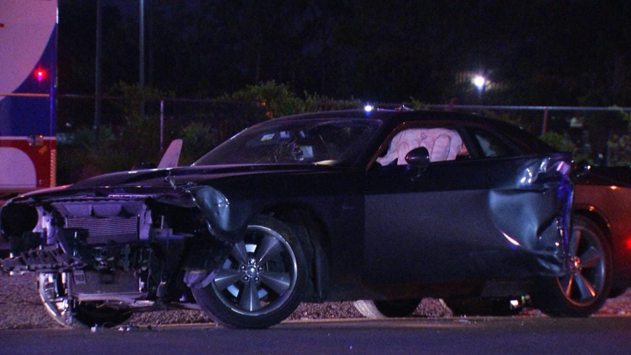 High-Speed Chase In Tulsa Ends With Crash