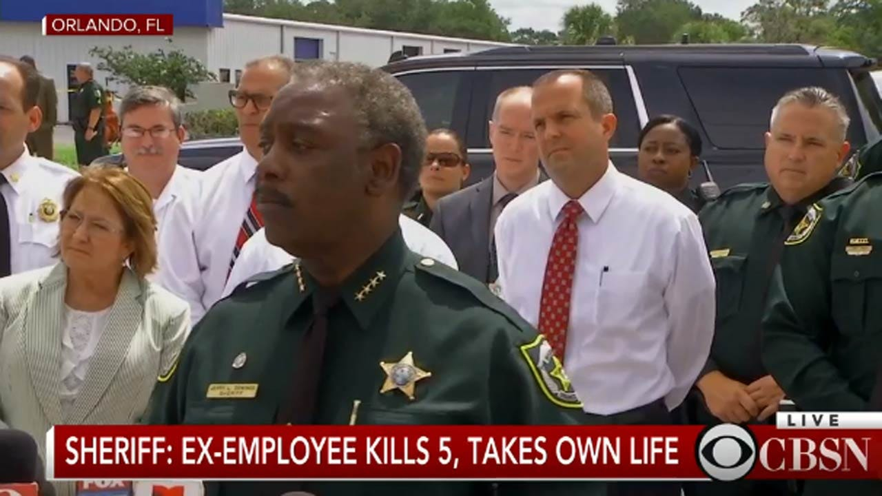 Fired Worker Kills Five At Orlando Business
