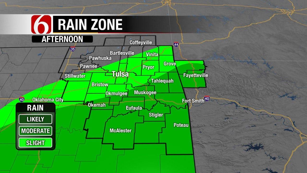 Rain Sticks Around For One More Day Before Sunshine Returns To NE Oklahoma