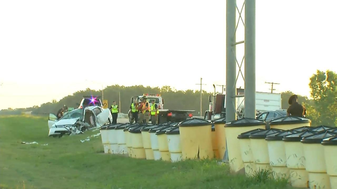 Wrong-Way Crash On Creek Turnpike In Broken Arrow Injures Five