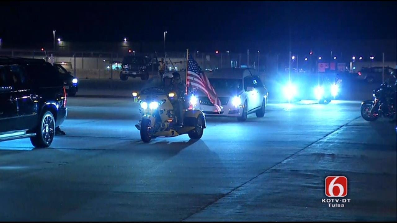 Soldier Who Died Unexpectedly Escorted To Collinsville
