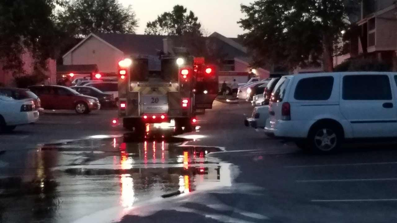 Firefighters Working To Put Out Tulsa Apartment Fire