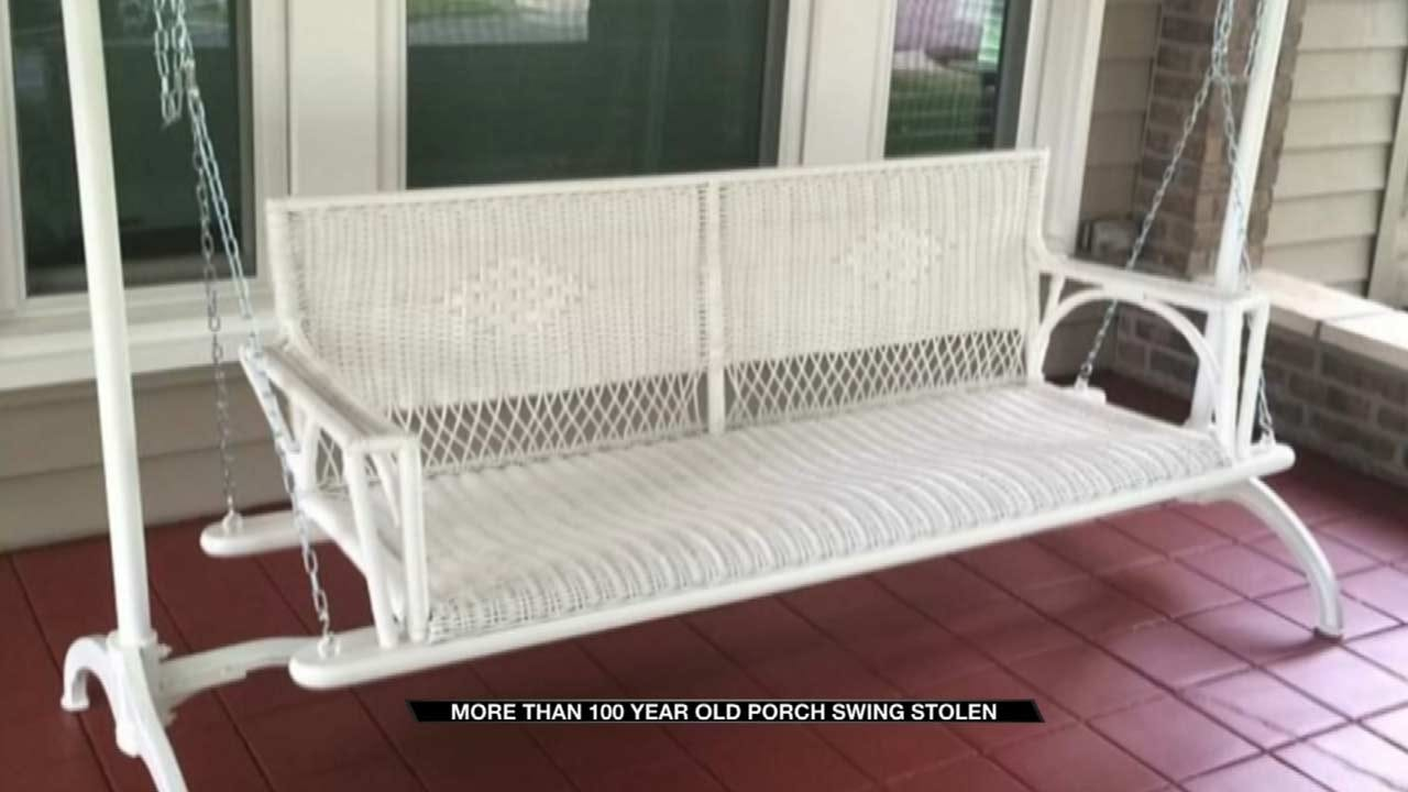 Thieves Steal Century-Old Porch Swing From Tulsa Family